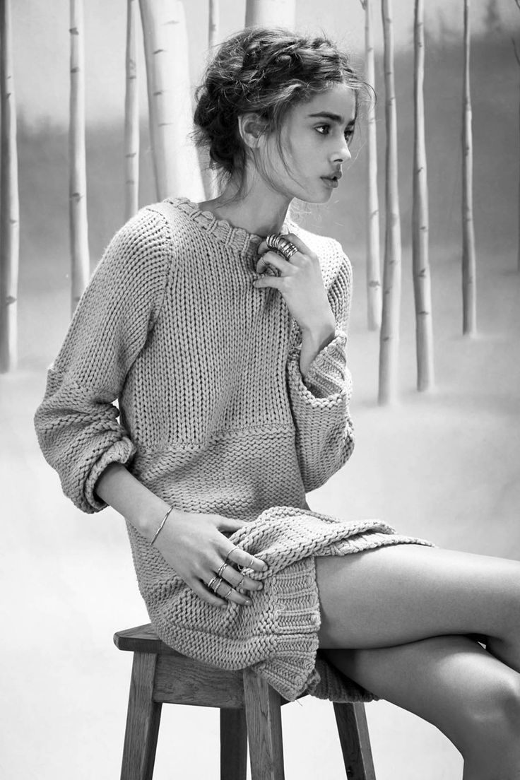 """senyahearts: """" Taylor Marie Hill in """"Winter Wonderland"""" - For Love & Lemons Knitz Holiday 2014 Lookbook Photographed by: Zoey Grossman """""""
