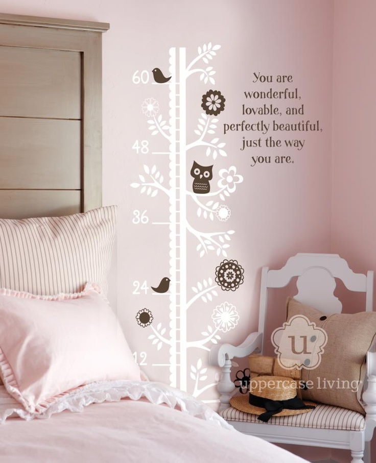 Simply stunning vinyl design!  #uppercaseliving #decor8life #ULgrowthchart #ULnursery: Daughters Bedrooms, Growth Charts, Vinyls Design, Uppercas Living, Girls Rooms, Upperca Living, Catalog Parties, Hostess Exclusively, Kids Rooms