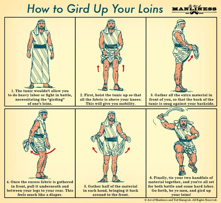 Gird up your loins... I finally understand what that means!