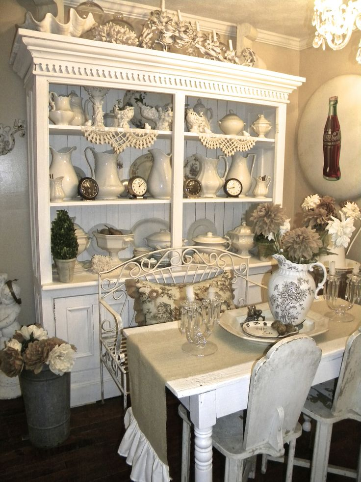Antique White Dining Room Endearing Design Decoration