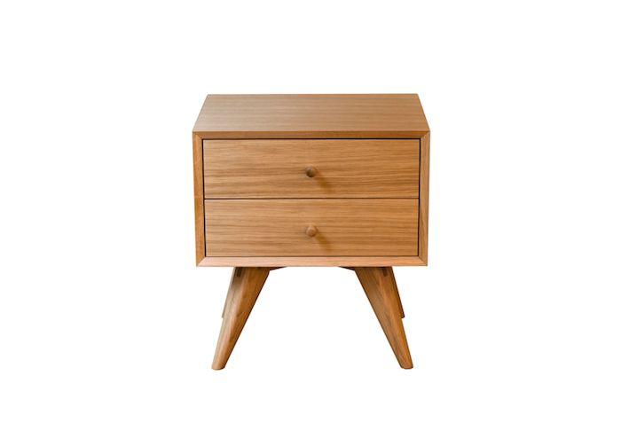 10 Easy Pieces: Modern Wood Bedside Tables   Mesitas de noche ...