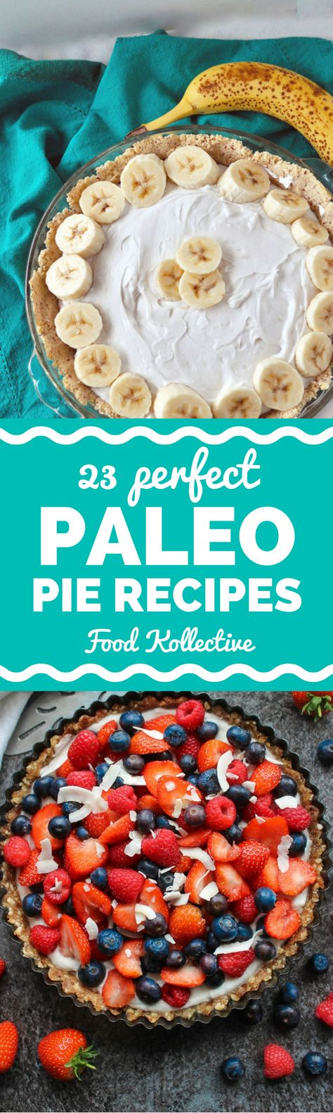 I was looking for Paleo pie recipes and these look absolutely delicious! There are recipes for Paleo pumpkin pie, Paleo pecan pie, Paleo chocolate pie, Paleo key lime pie, Paleo apple pie, and more. I can't wait to make these for a Paleo dessert! Collected on FoodKollective.com