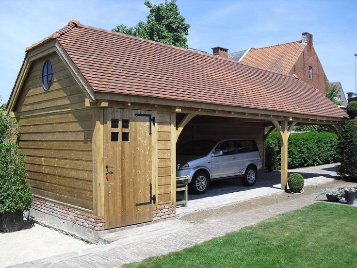 17 best images about storage building carport on for Two car garage shed