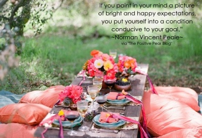 norman vincent peale quotes with images | If you paint in your mind a picture of bright and happy expectations ...