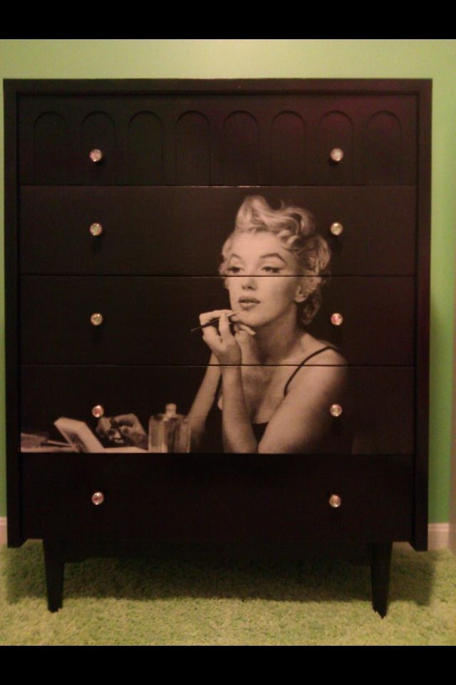 Refinished Marilyn Monroe dresser