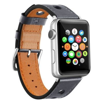Just US$14.84, buy 42mm Cow Leather Strap Replacement Band with Stainless Metal Clasp for Apple Watch online shopping at GearBest.com Mobile.