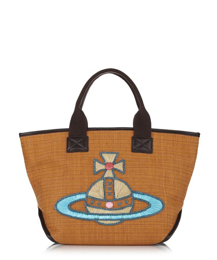 Nice brown leather trim grab bag Sale - Vivienne Westwood