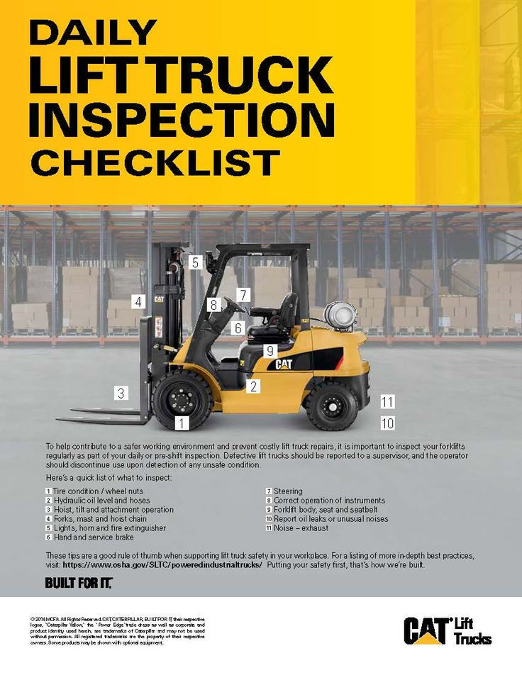 Forklift Truck Maintenance Checklist Golf Cart Preventive