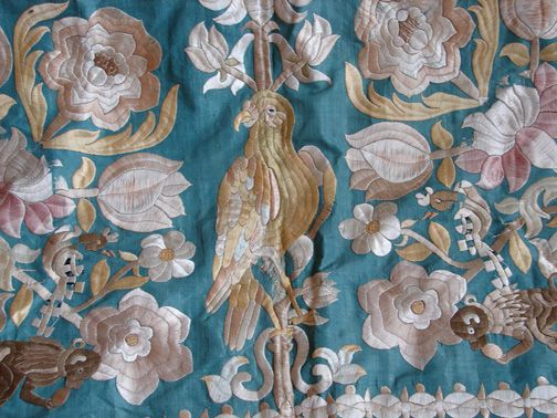 Maria Niforos - Fine Antique Lace, Linens & Textiles : Antique Textile # TX-13 Castelo Branco Coverlet