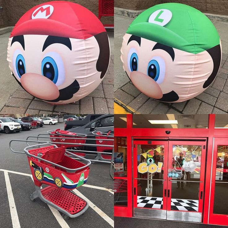 I really have to had it to #Target and #Nintendo: their marketing for the upcoming #Switch release of #MarioKart8 Deluxe is awesome. Turns out there's several different cart-skin variants: I saw #Mario #Luigi and #Peach for sure. And when you walk into the store? The door plays sound effects from the #game! #geek #awesome