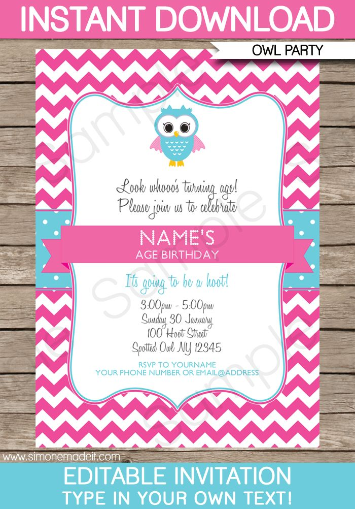 51 best Awesome Invitation images on Pinterest | Party invitation ...