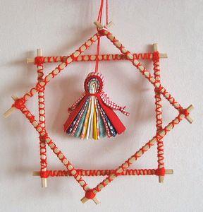 Традиционная народная кукла - Северная берегиня и окна радости