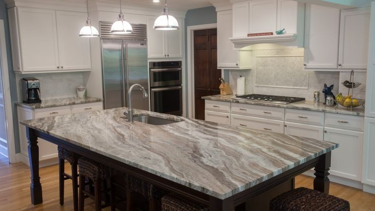 Fantasy Brown Quartzite Modern Kitchen Kitchens