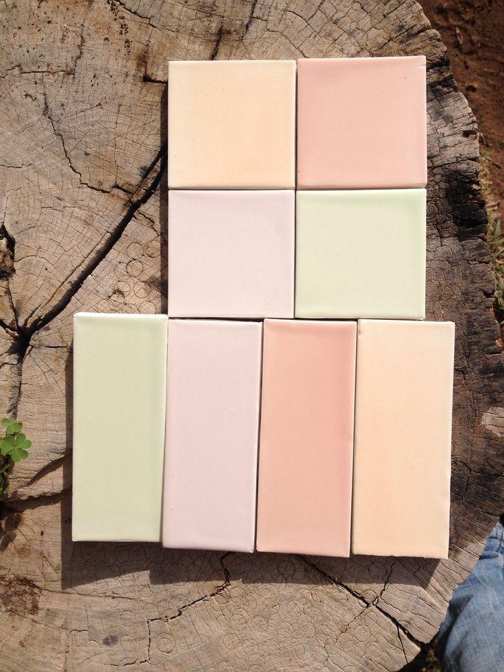 Nuevos colorsitos :) azulejos hechos a mano en Dolores Hidalgo, Guanajuato, México #tiles