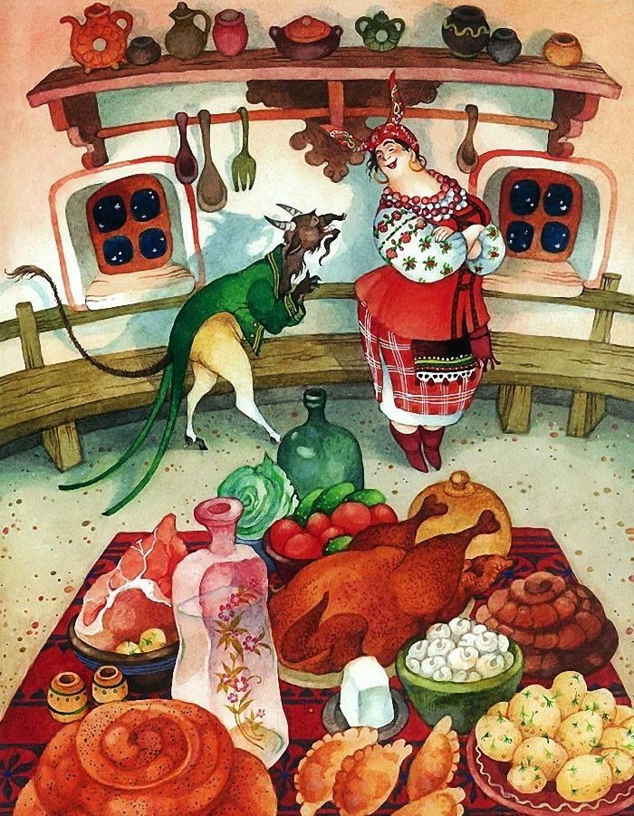 Картинки ночь перед рождеством прикольные, открытке юбилею