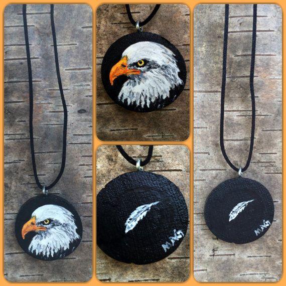 American Eagle Bird Men Women Pendant Jewelry by TheBackyardBear