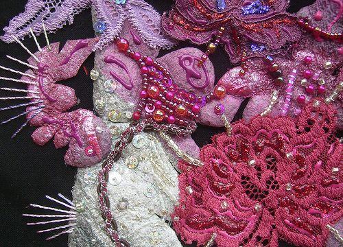 Detail rainforest flowers 5 by Karen Cattoire, via Flickr