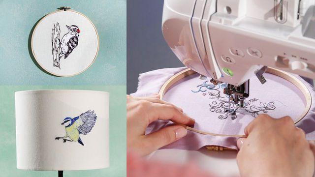 Online Kurs zum Freihandsticken mit der Nähmaschine bei Makerist #makerist…