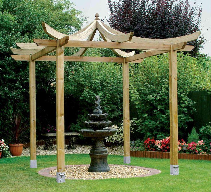 Plans For Wooden Gazebo Pergola Pinterest Wooden
