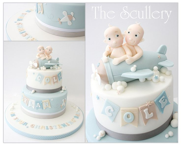 best twins cake toppers images on   fondant baby, Baby shower invitation