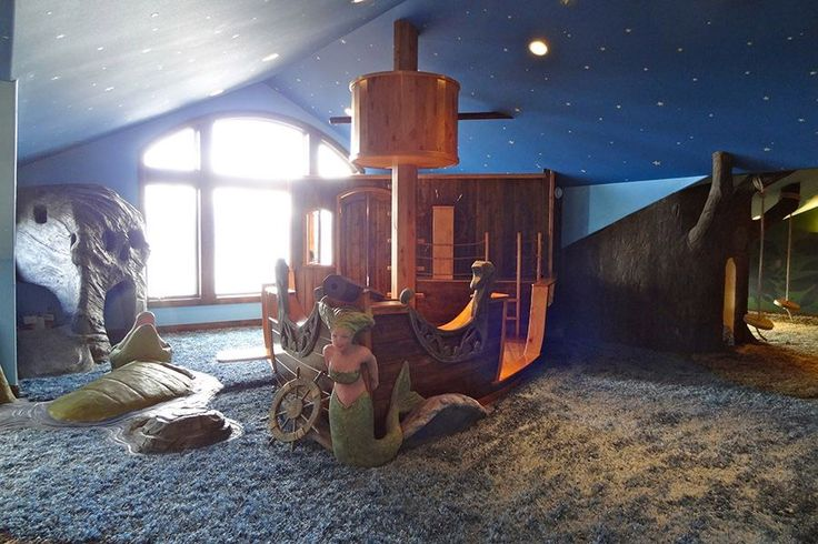 "Outrageous ""Neverland"" themed playroom, all 1400 square feet of it."