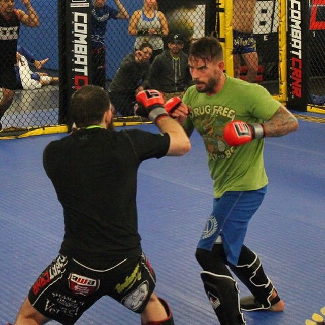 """CM Punk's coach Duke Roufus posted a photo on Instagram today and said """"MMA fight scrimmage yesterday at Roufusport Punk has some things to work on but he showed a lot of potential. Proud of CM Punk, did his (first)…"""