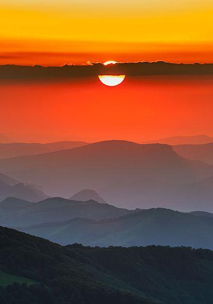 Sunset in Balkan Mountains, Bulgaria