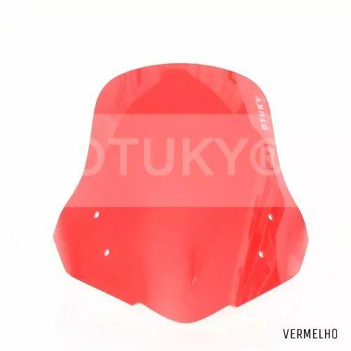 bolha acrílico nc 700x honda padrão qualidade otuky vermelho