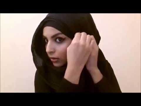 Turkish Hijab Style Tutorial , Universal Hijab Style for All face Shapes ! by Shamshom brunette