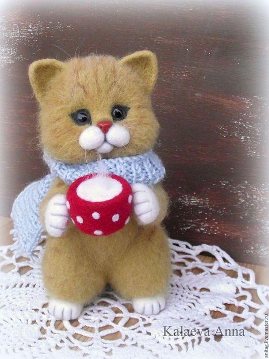 Игрушки животные, ручной работы. Рыжий котенок. Волшебные игрушки Мэри Поппинс (AnitaG). Ярмарка Мастеров. Котенок валяный