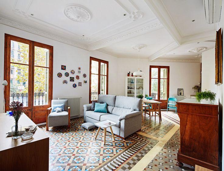 TheHallStudio rehabilita un piso modernista del Eixample de Barcelona al estilo nórdico. Moder-nordico, lo han llamado.