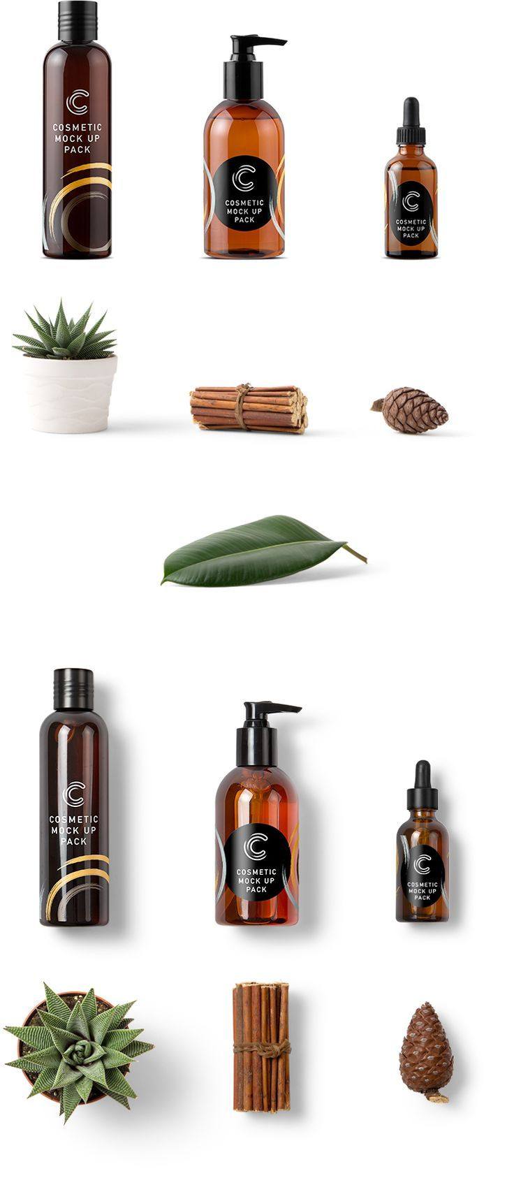 Free Cosmetic Packaging Mockups. By Mockup Zone