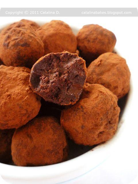 Catalina pece: Truffes au Chocolat (Čokoládové lanýže)