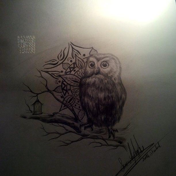 Baykuş drawing