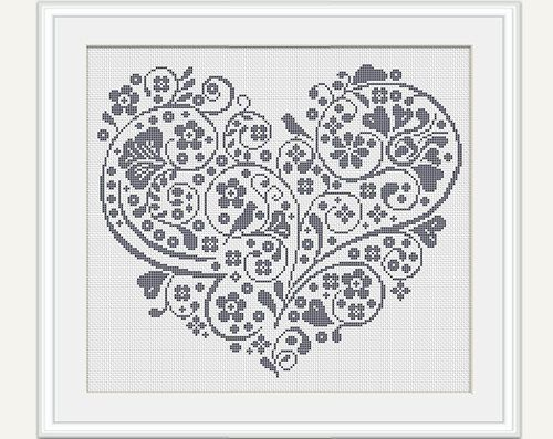Image result for cross stitch romance etsy