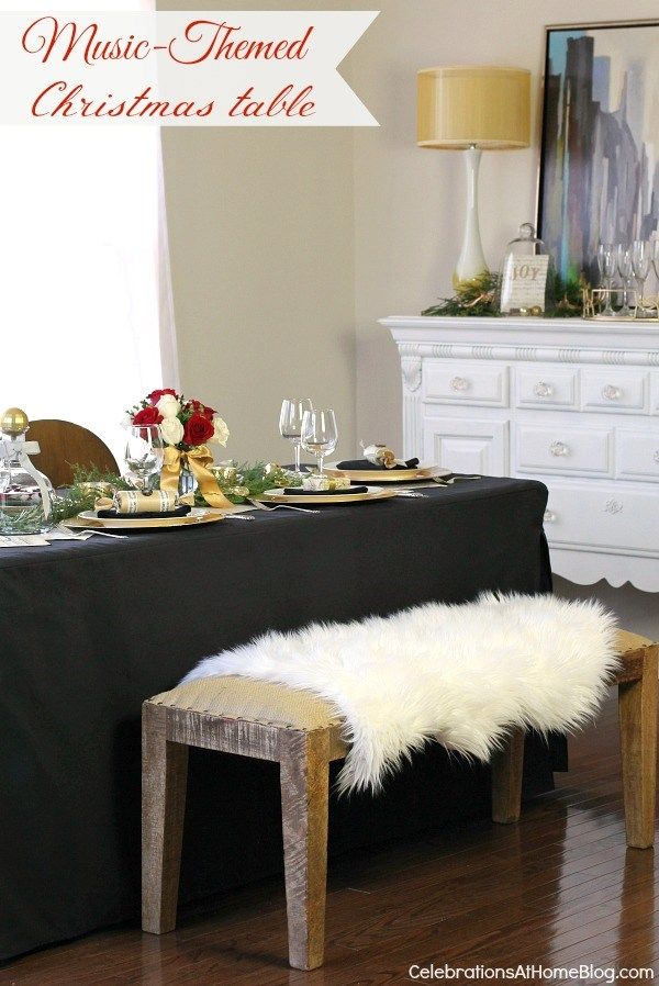 Music Themed Christmas Tabletop Design — Celebrations at Home