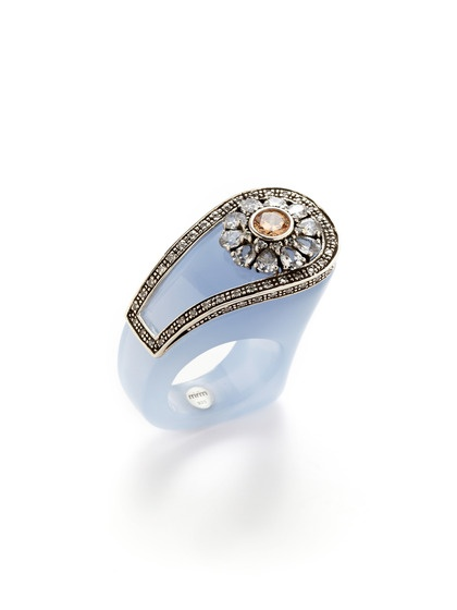 Chalcedony Salvador Ring by Miriam Salat on Gilt.com