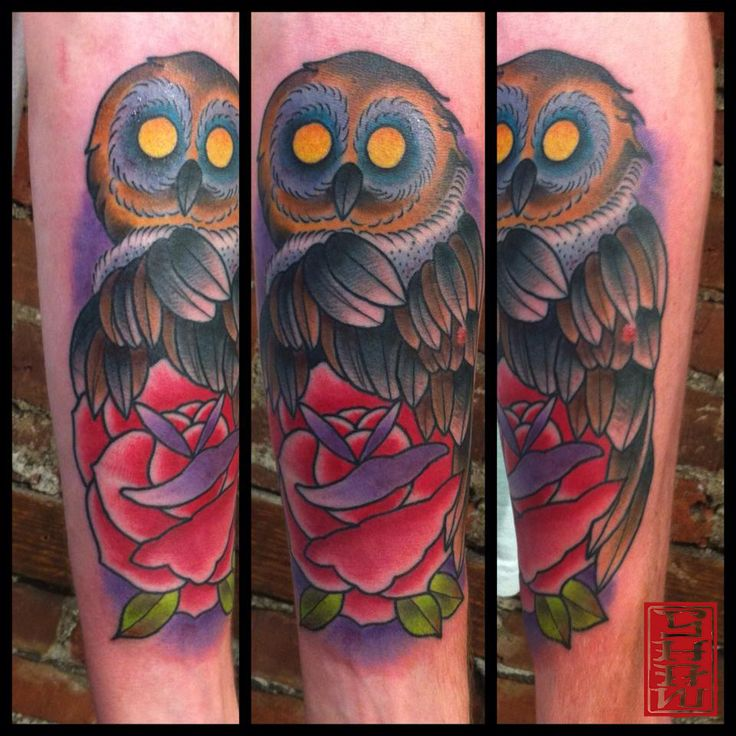 Tattoo by Stephen Shaw #owltattoo #owl #owltattoos