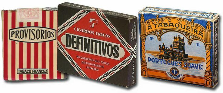 Cigarros Provisórios / Definitivos / Português Suave - Vintage Portuguese Tabaco Brands