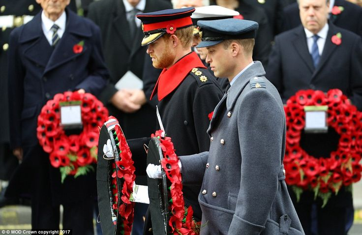 Ten thousand current and former members of the military, dignitaries and members of the public gathered at the Cenotaph on Remembrance Sunday to honour Britain's war dead.