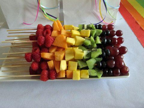 Espetinhos de frutas que ficaram lindos e gostosos