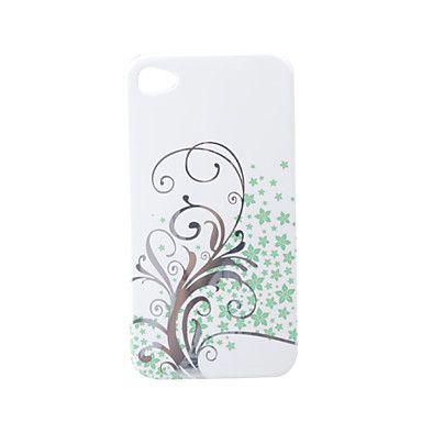 cartoon transparante rand beschermende PVC-zaak hoes voor iPhone 4 (wit) – € 2.31
