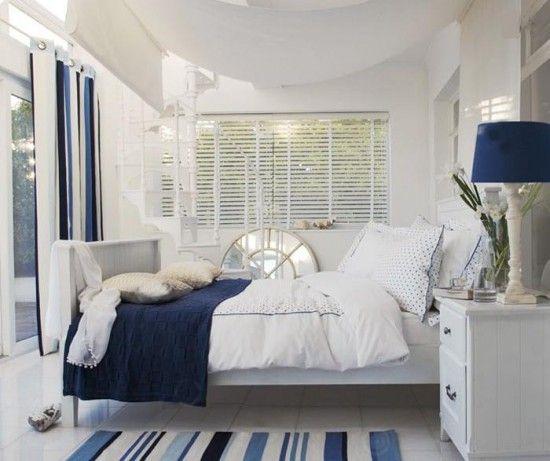 chambre bleu marine et blanc chambre bleue sommeil heureux par agns - Decoration De Chambre En Bleu