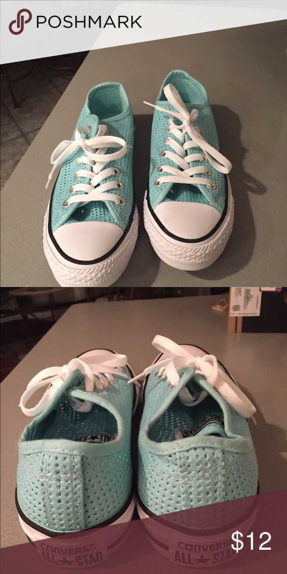 Tiffany blue converse!!!! Awesome converse...great color!!! Converse Shoes Sneakers