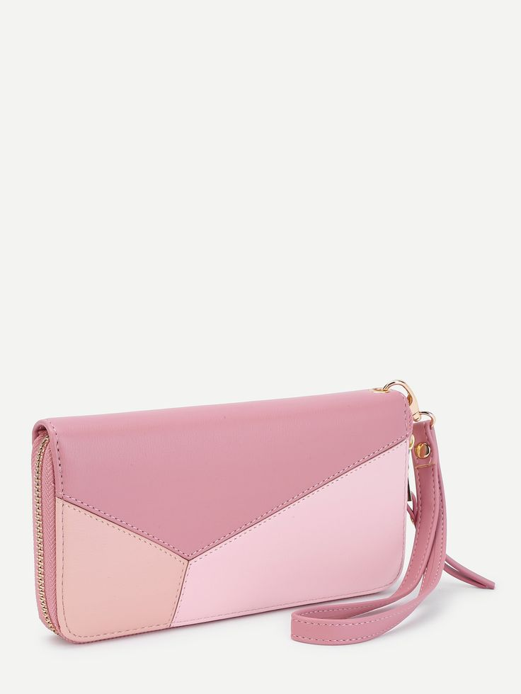 Shop Color Block Zip Around PU Purse online. SheIn offers Color Block Zip Around PU Purse & more to fit your fashionable needs.