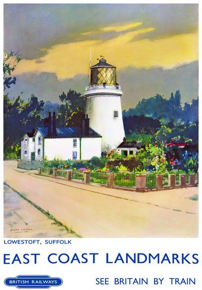 Vintage Railway Travel Poster - Lowestoft - Suffolk - UK.