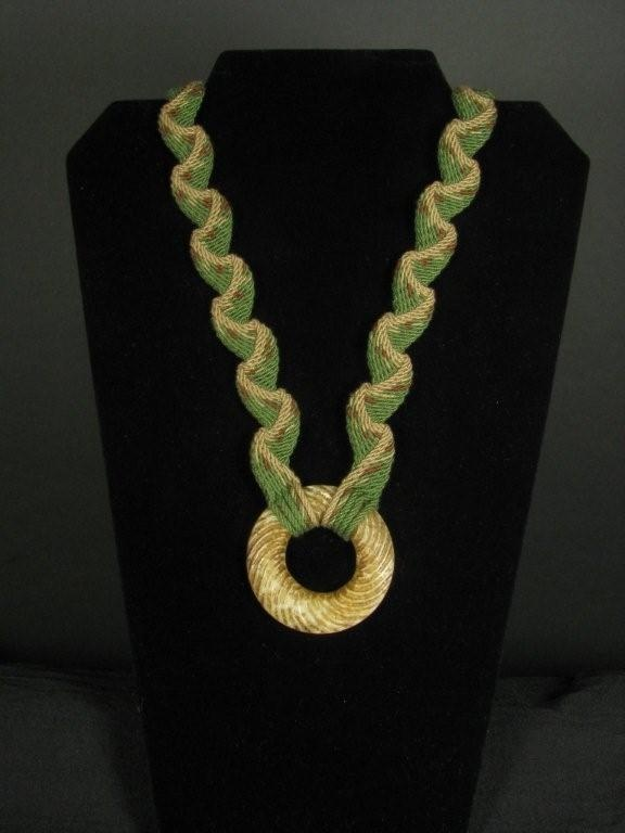 Ply-split necklace by Louise French  photo by William French