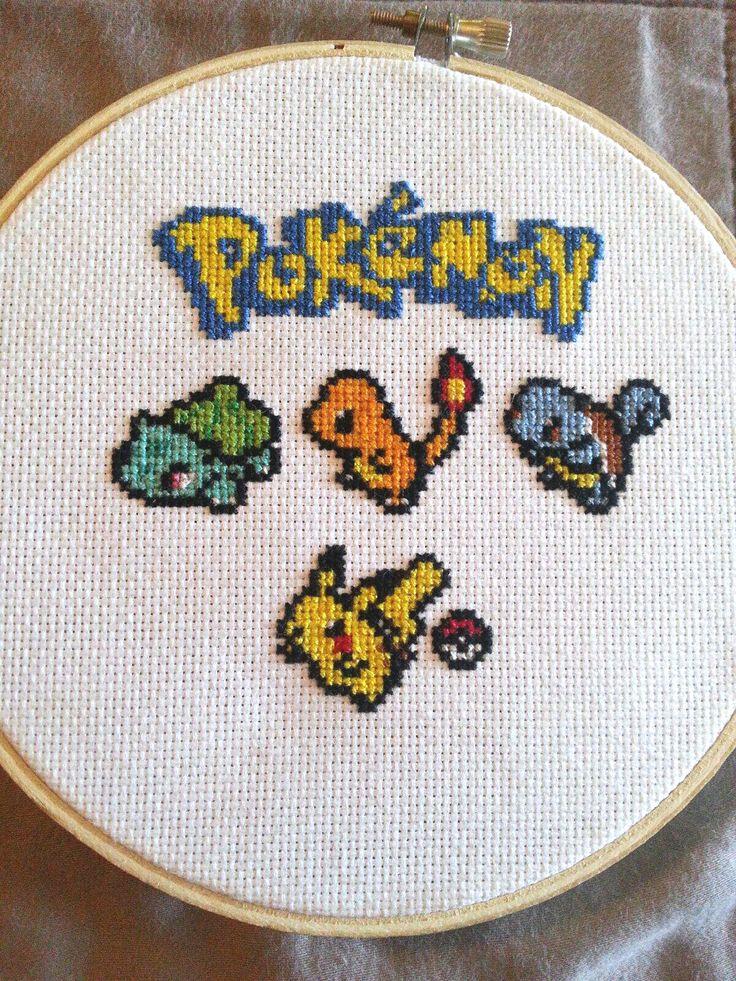 Starter Pokemon Cross Stitch - Imgur