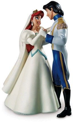 WDCC Disney Classics The Little Mermaid Ariel And Eric Dancing Two Worlds One Heart #WDCCDisneyClassics #Art. Ariel's Crown: Painted with gold paint. Ariel's Veil and Earrings: Opalescent paint. Eric's Epaulettes: Painted with gold paint.