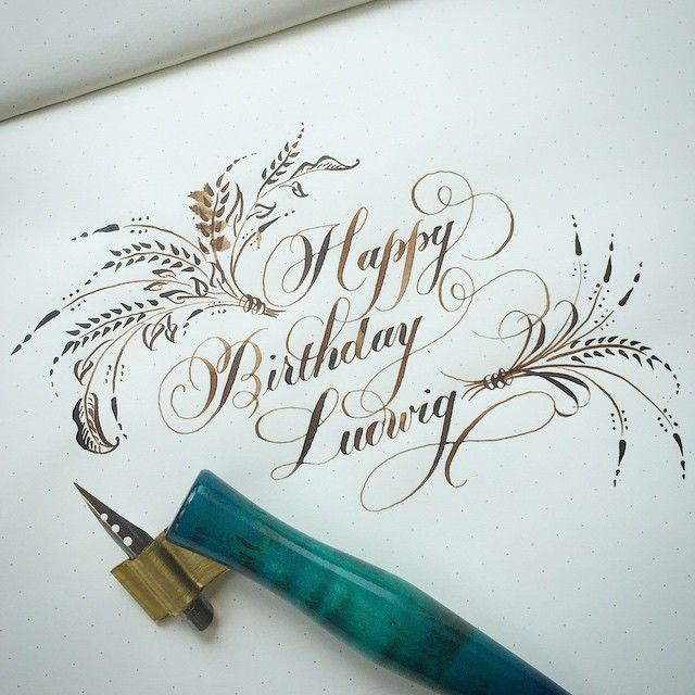 25 best ideas about happy birthday calligraphy on My name in calligraphy